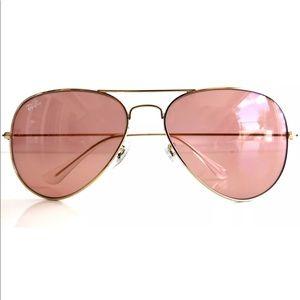Ray Ban 3025 001/4B Gold Frame Pink Lens